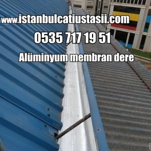 Alüminyumlu membran çatı deresi- Trapez çatı kaplam fiyatları-