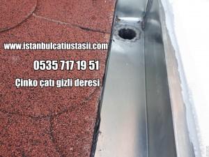 Titanyum çinko kaplama gizli dere fiyatları- Çinko dere- Çinko oluk- Arduvazlı membran ile çatı örtüsü fiyatları-